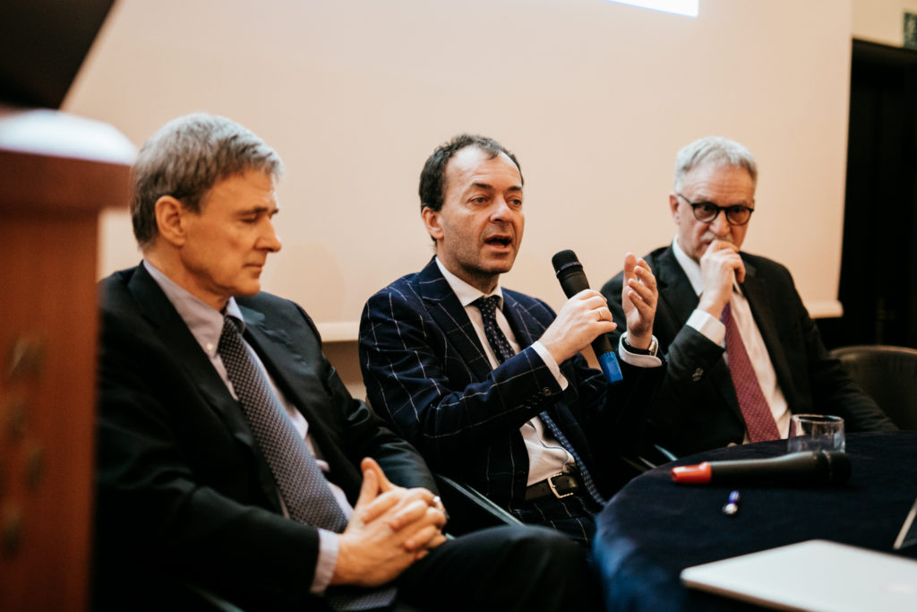 Prof. Jadran Lenarčič, Director, Jožef Stefan Institute - Dr. Andrea Goldstein, Chief Economist, Nomisma - Prof. Maurizio Fermeglia, Dean, University of Trieste